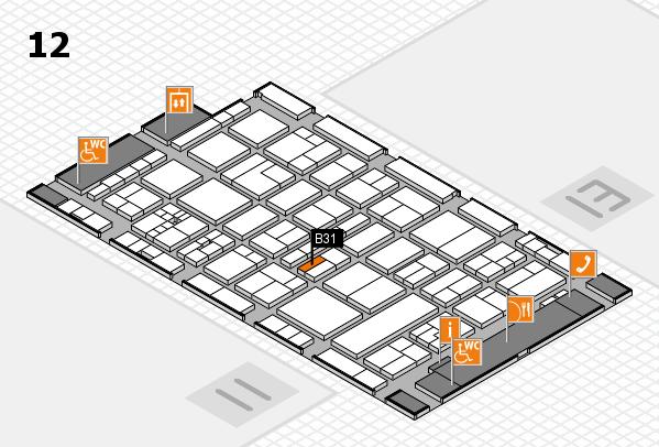 drupa 2016 hall map (Hall 12): stand B31