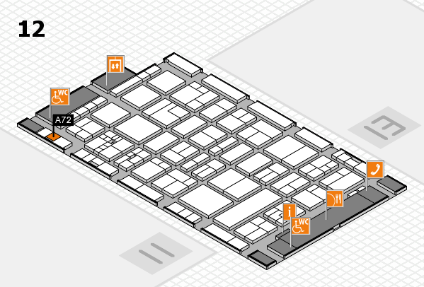 drupa 2016 hall map (Hall 12): stand A72