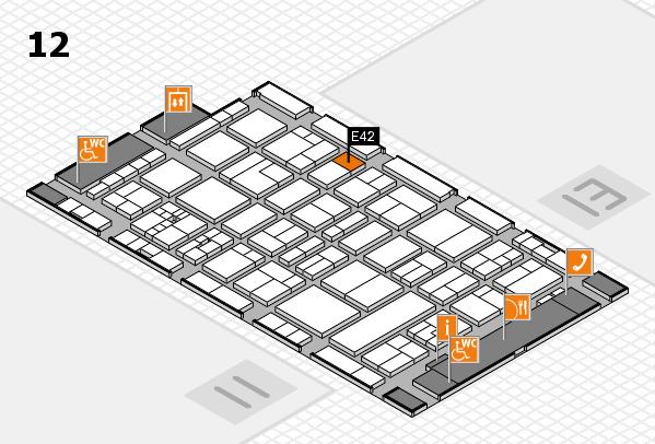 drupa 2016 hall map (Hall 12): stand E42