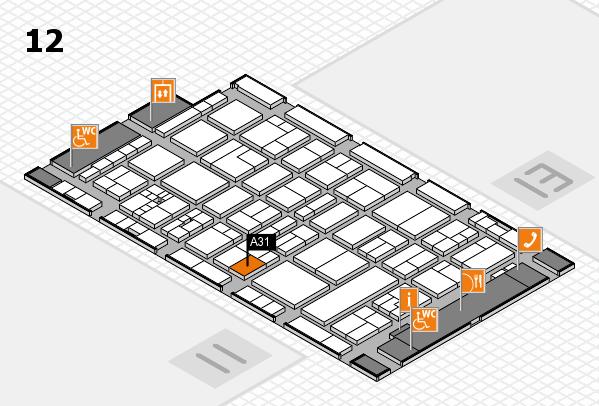 drupa 2016 hall map (Hall 12): stand A31
