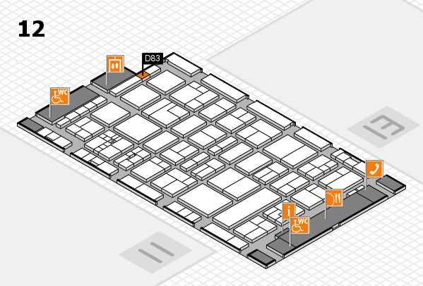 drupa 2016 Hallenplan (Halle 12): Stand D83