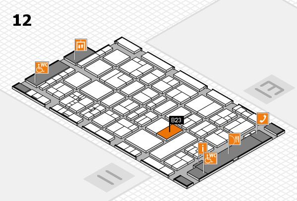 drupa 2016 hall map (Hall 12): stand B23