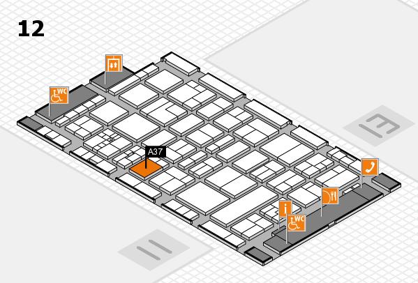 drupa 2016 Hallenplan (Halle 12): Stand A37