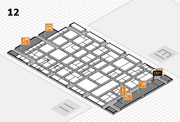 drupa 2016 Hallenplan (Halle 12): Stand D01