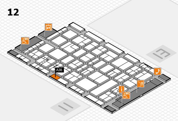 drupa 2016 hall map (Hall 12): stand A38