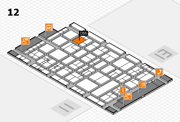 drupa 2016 hall map (Hall 12): stand D55