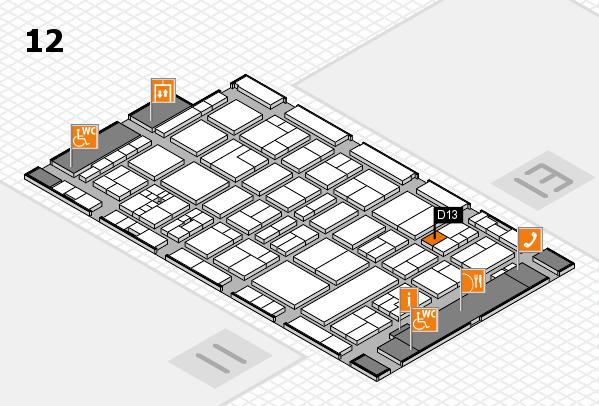 drupa 2016 Hallenplan (Halle 12): Stand D13