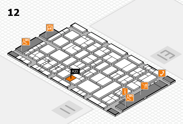drupa 2016 Hallenplan (Halle 12): Stand A33
