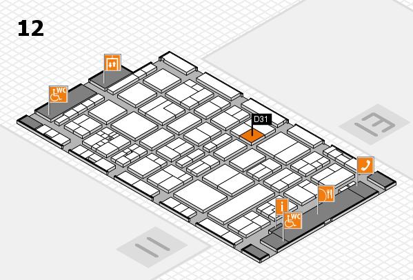 drupa 2016 Hallenplan (Halle 12): Stand D31