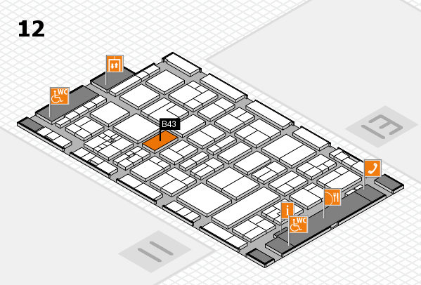 drupa 2016 Hallenplan (Halle 12): Stand B43