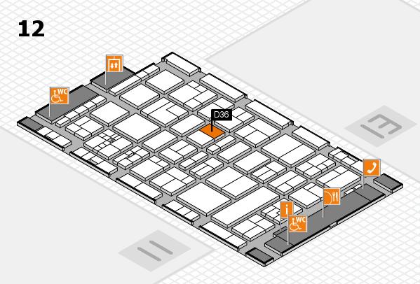 drupa 2016 Hallenplan (Halle 12): Stand D36