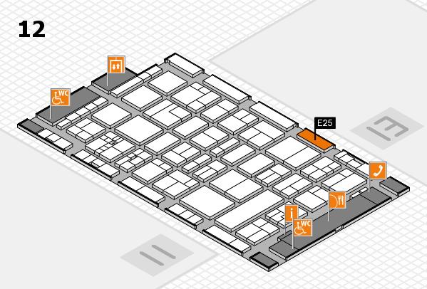 drupa 2016 hall map (Hall 12): stand E25