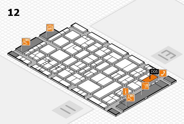 drupa 2016 Hallenplan (Halle 12): Stand D05
