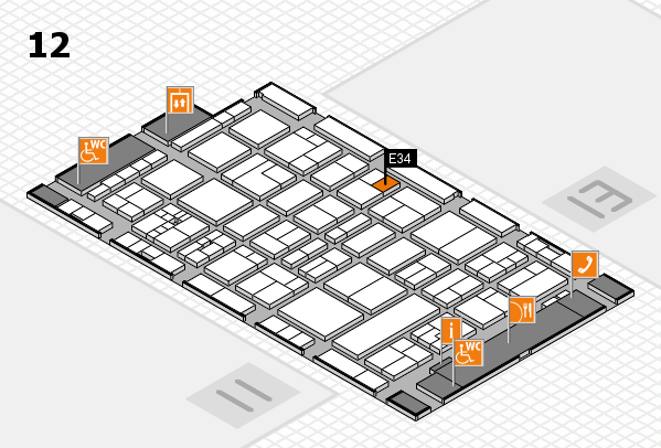 drupa 2016 hall map (Hall 12): stand E34