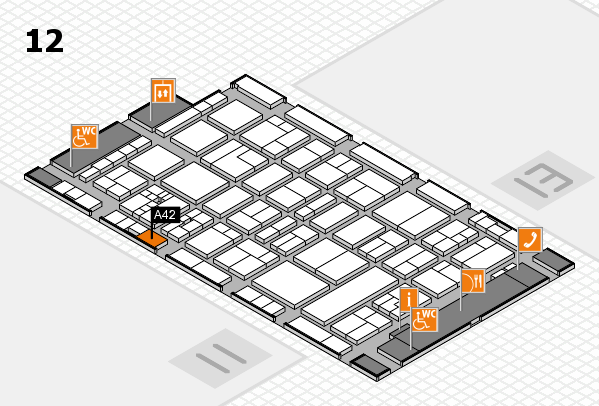 drupa 2016 Hallenplan (Halle 12): Stand A42