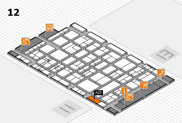 drupa 2016 Hallenplan (Halle 12): Stand A20