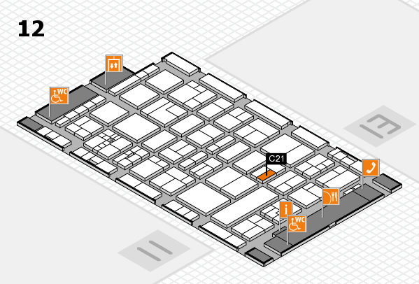 drupa 2016 hall map (Hall 12): stand C21