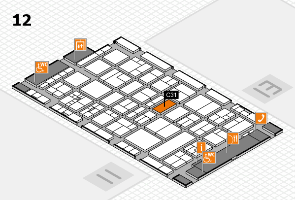 drupa 2016 Hallenplan (Halle 12): Stand C31