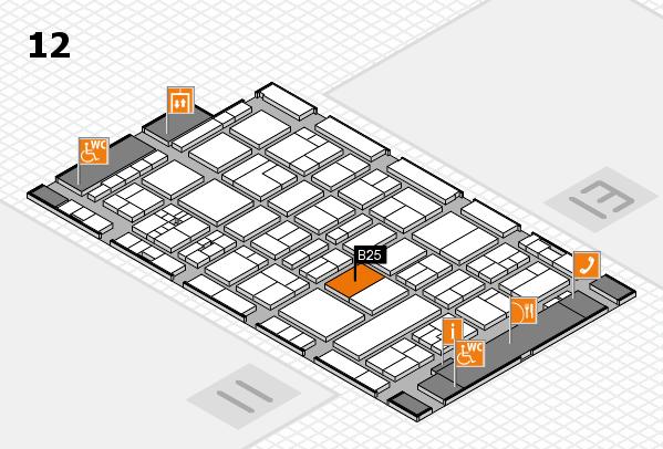 drupa 2016 Hallenplan (Halle 12): Stand B25