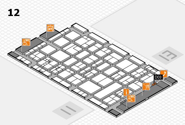 drupa 2016 hall map (Hall 12): stand D03