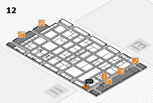 drupa 2016 hall map (Hall 12): stand A04