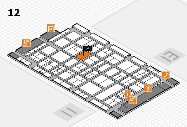 drupa 2016 hall map (Hall 12): stand C43