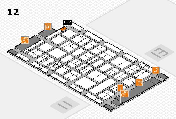 drupa 2016 Hallenplan (Halle 12): Stand D82