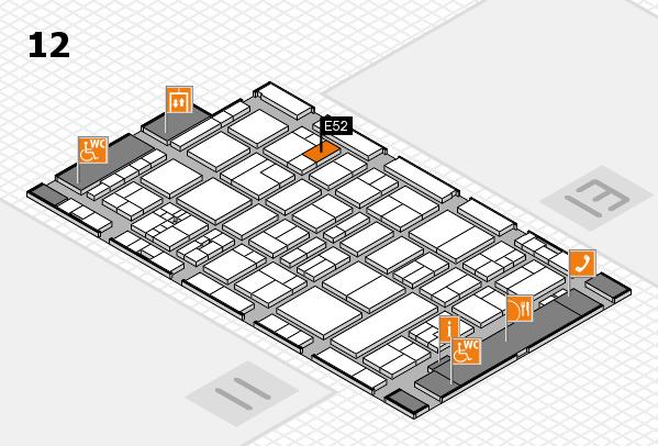 drupa 2016 Hallenplan (Halle 12): Stand E52