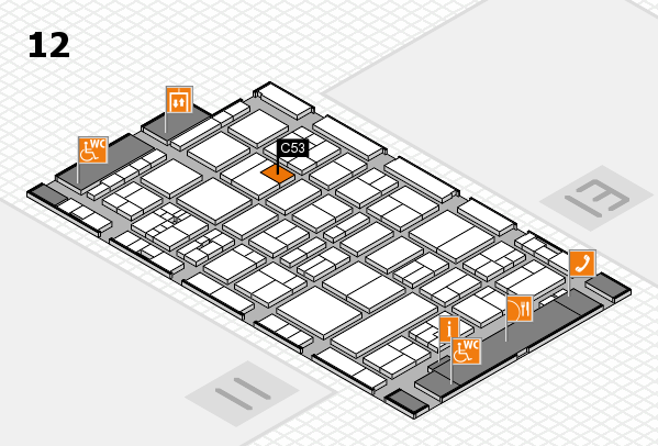 drupa 2016 hall map (Hall 12): stand C53
