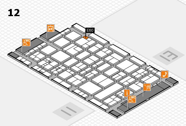 drupa 2016 hall map (Hall 12): stand E60