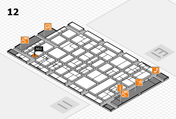 drupa 2016 Hallenplan (Halle 12): Stand A63