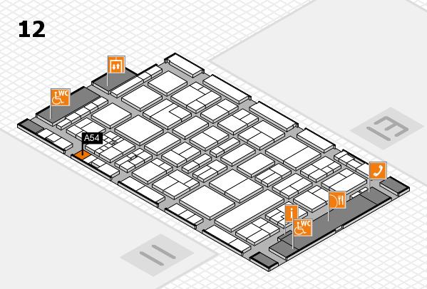 drupa 2016 hall map (Hall 12): stand A54