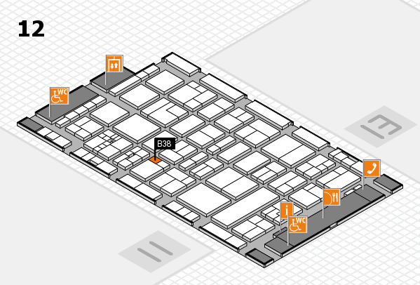 drupa 2016 Hallenplan (Halle 12): Stand B38