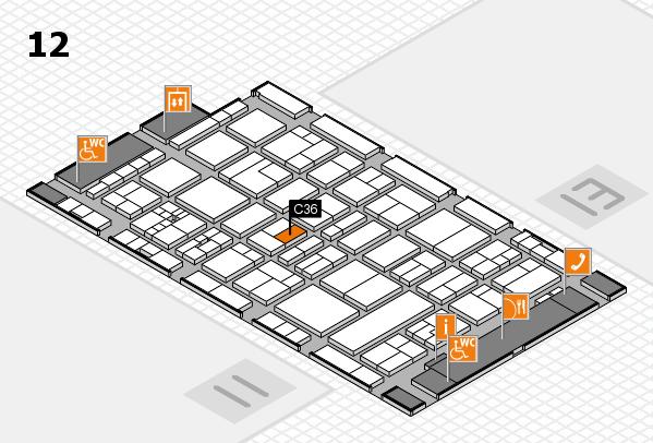 drupa 2016 Hallenplan (Halle 12): Stand C36