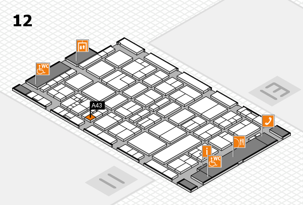 drupa 2016 hall map (Hall 12): stand A43