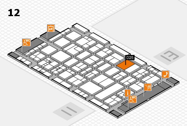 drupa 2016 Hallenplan (Halle 12): Stand D25