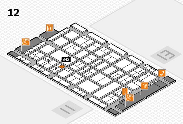 drupa 2016 hall map (Hall 12): stand B42