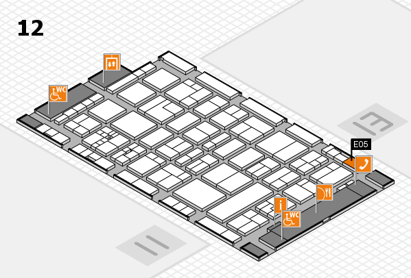drupa 2016 Hallenplan (Halle 12): Stand E05
