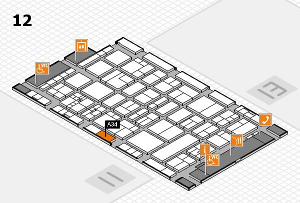 drupa 2016 Hallenplan (Halle 12): Stand A34