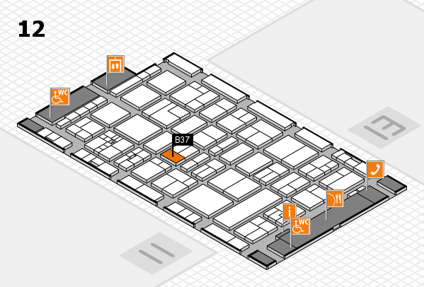 drupa 2016 Hallenplan (Halle 12): Stand B37