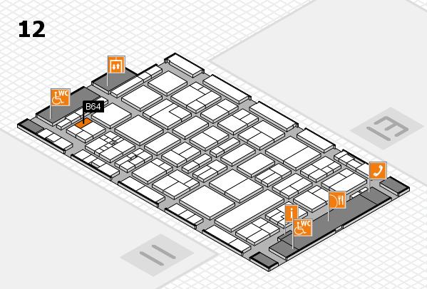 drupa 2016 hall map (Hall 12): stand B64