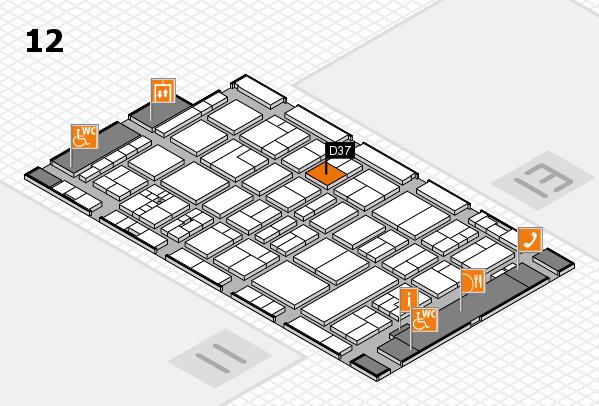 drupa 2016 Hallenplan (Halle 12): Stand D37
