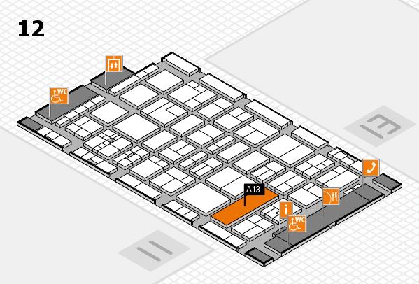 drupa 2016 hall map (Hall 12): stand A13