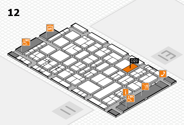 drupa 2016 Hallenplan (Halle 12): Stand D23