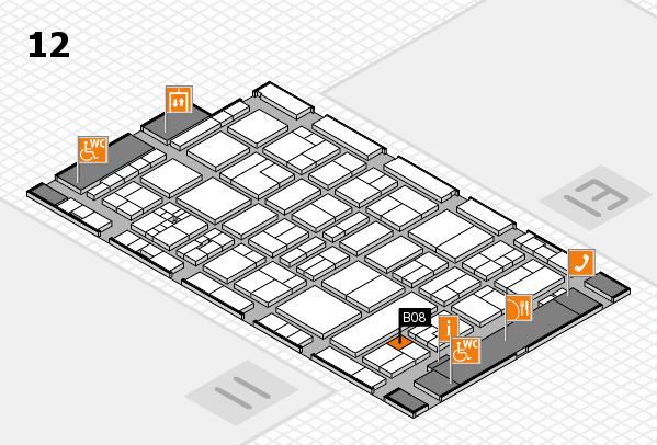 drupa 2016 Hallenplan (Halle 12): Stand B08