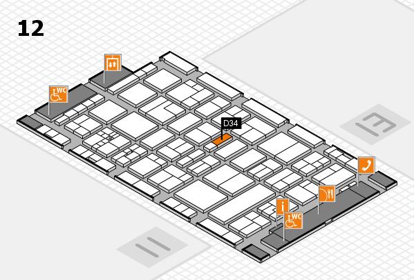 drupa 2016 hall map (Hall 12): stand D34