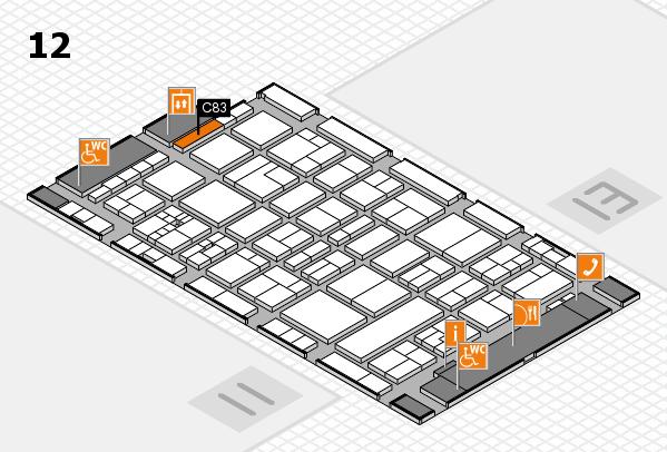 drupa 2016 Hallenplan (Halle 12): Stand C83