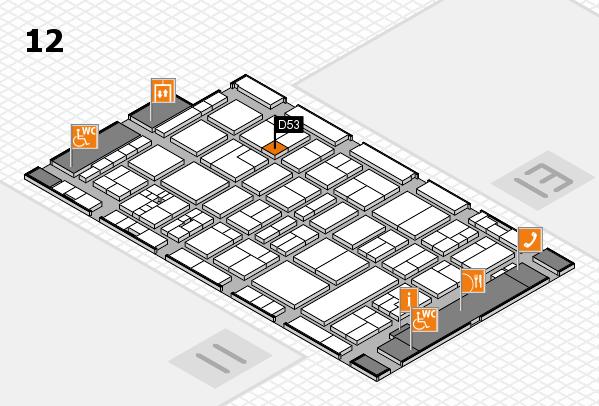 drupa 2016 Hallenplan (Halle 12): Stand D53