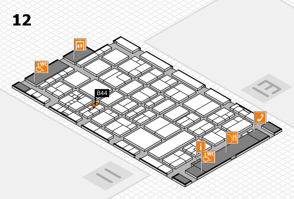 drupa 2016 Hallenplan (Halle 12): Stand B44