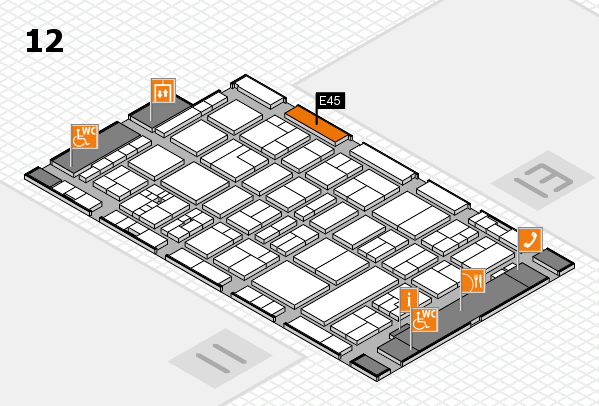 drupa 2016 Hallenplan (Halle 12): Stand E45